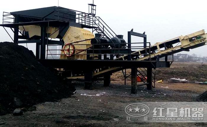 重锤破移动碎煤现场