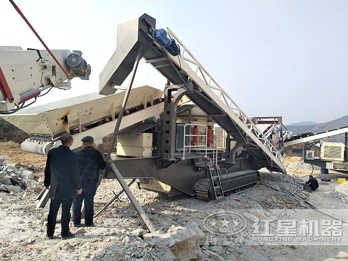 履带配置下的流动式碎煤机远程控制作业