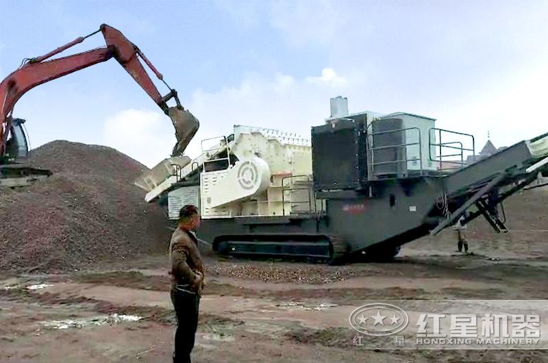 履带移动破配置细碎机也可以进行制砂