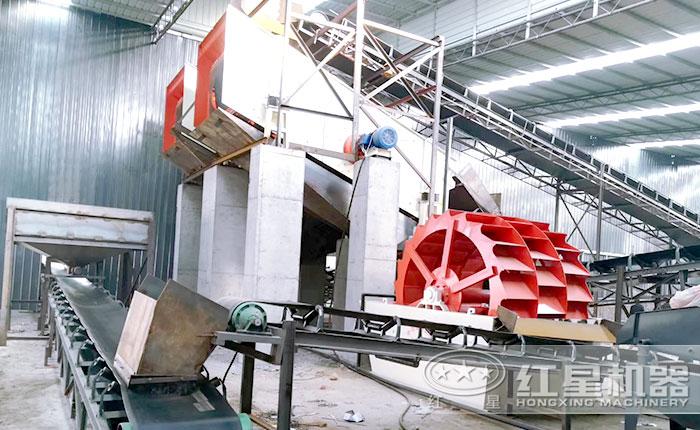 3020型轮斗洗砂机施工作业现场
