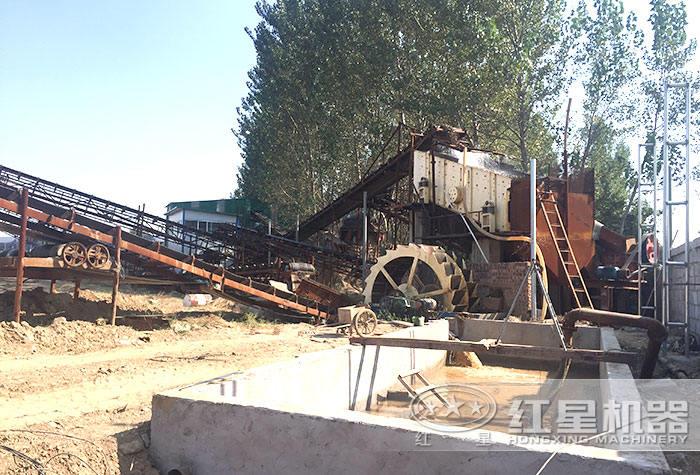 红星机器配置的水洗砂机作业现场