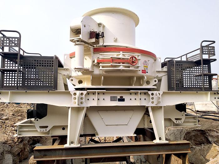 HVI制砂机安装作业现场