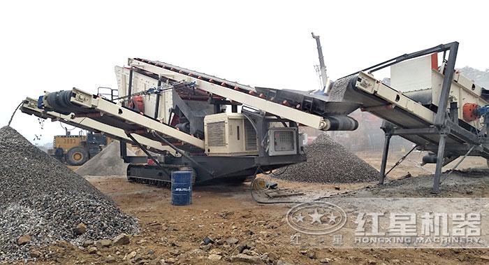 """""""多功能""""移动碎石机器"""