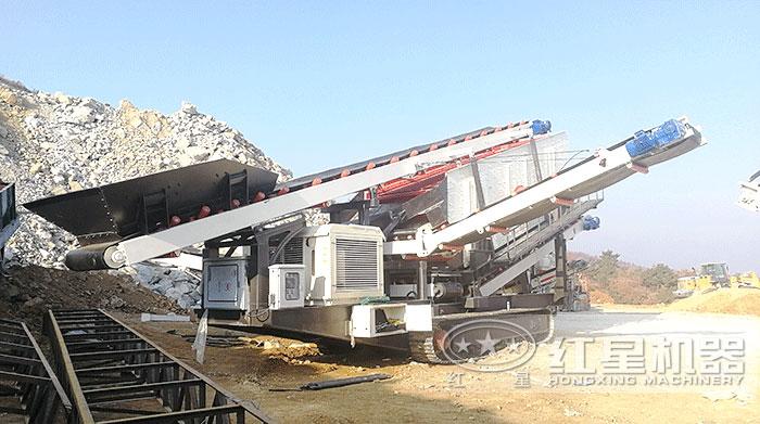"""""""多功能""""移动碎石机器柴油机可发电作业"""