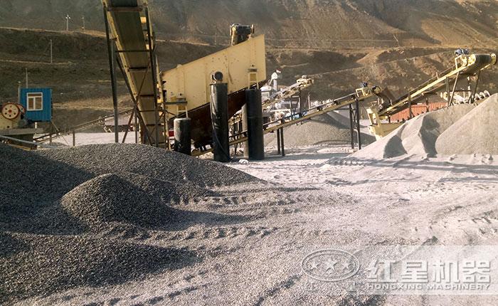 机制砂制砂现场