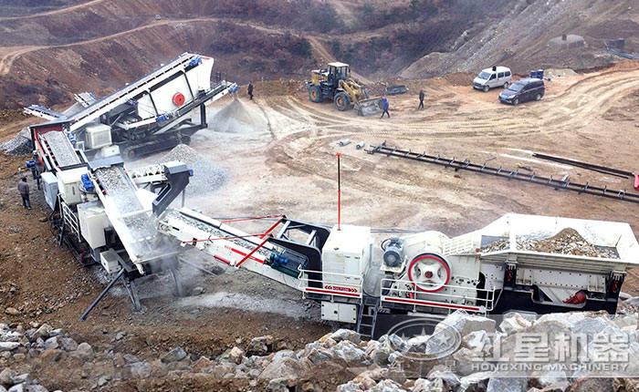 多级组合配置的全套石料生产线