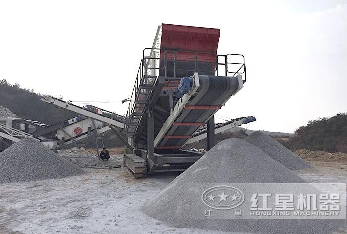 生产沙子作业现场