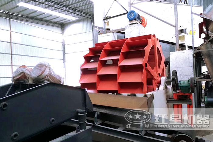 安徽室内三轮斗洗砂机用户安装现场