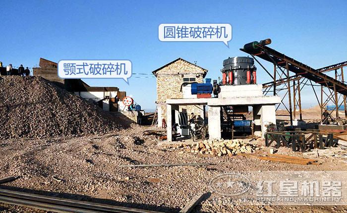时产100-200吨山石碎石生产线用户安装现场