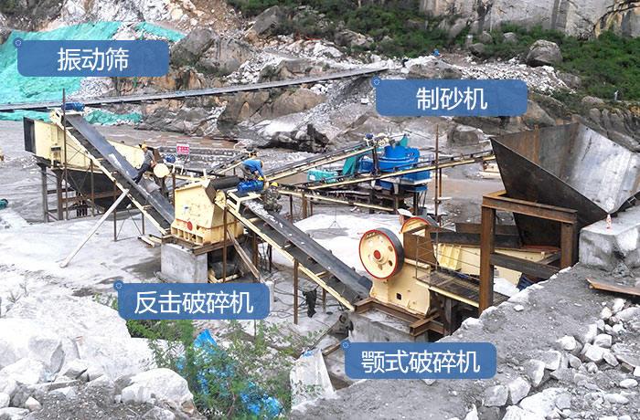 石头制沙生产线