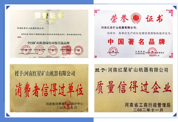 红星机器荣誉证书
