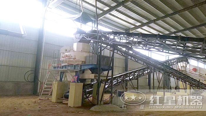 固定制砂机作业现场