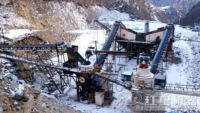 碎石场建立的制砂生产线
