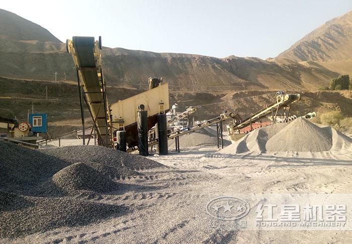 砂石场生产沙子现场