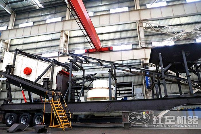 移动式沙子生产设备车间安装现场