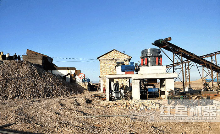 生产建筑石子用户现场