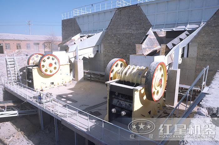 鄂式破碎机搭建的生产线