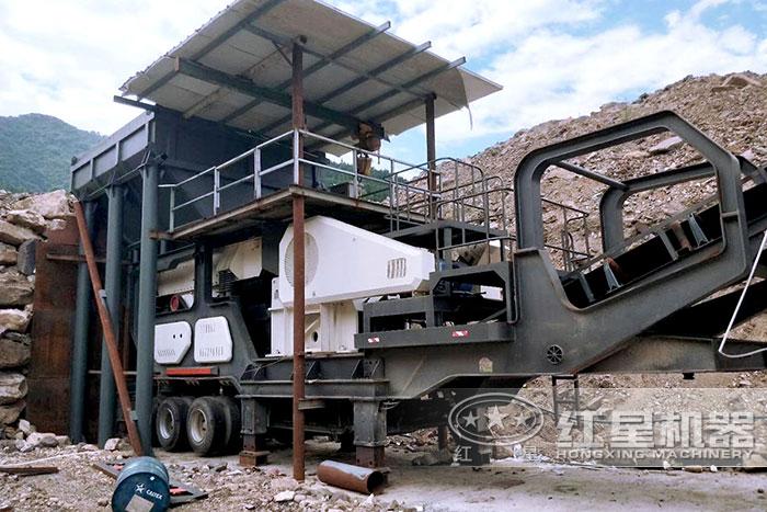 流动石子机搭载鄂式破碎机