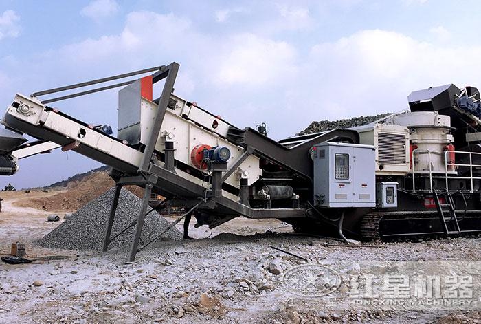 流动石子破碎机搭载圆锥破碎机