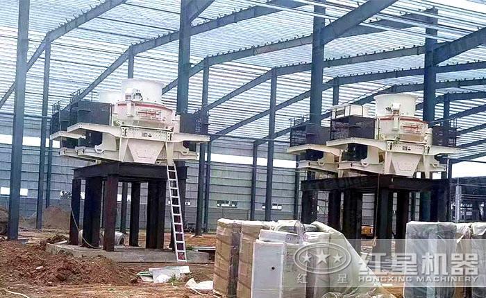 大型成套制砂机设备作业现场