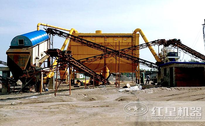 环保石头碾成沙子的生产线