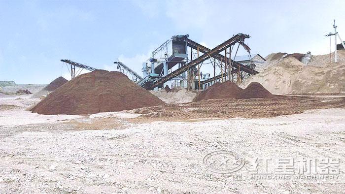 生产建筑砂作业现场