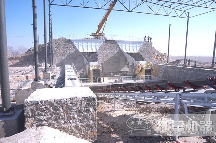 河北时产500吨砂石料生产线