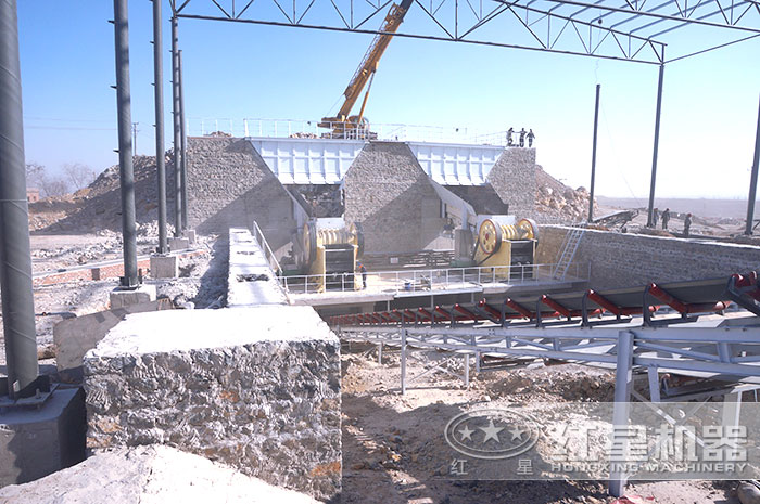 河北时产500吨花岗岩破碎机现场