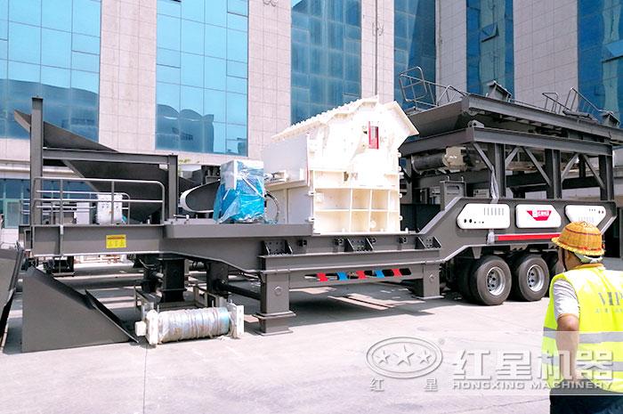轮胎移动制砂机设备