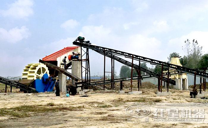 固定式制砂洗砂现场