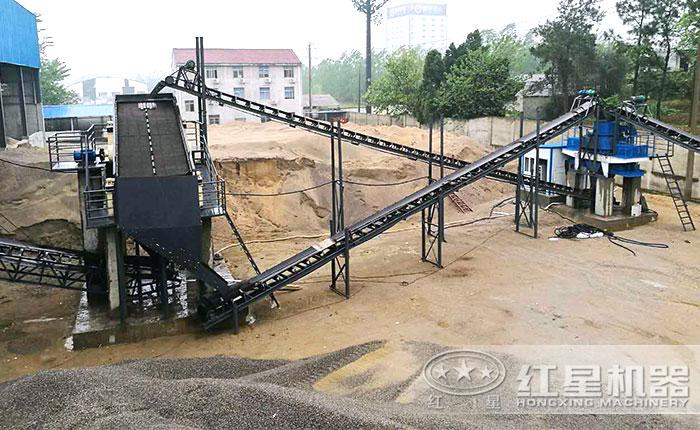 制砂作业现场