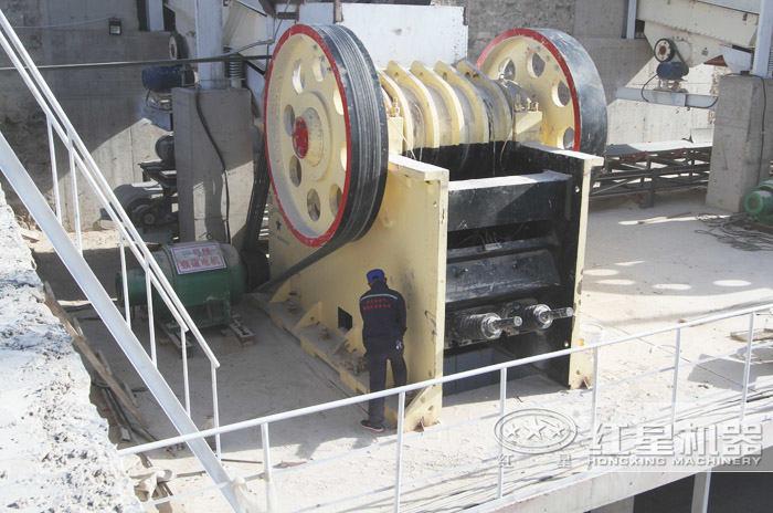 安徽青石碎石机生产线现场