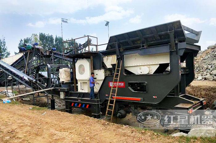 安徽亳州移动机制砂生产现场