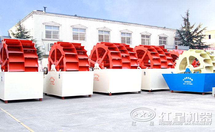 厂区整齐排列洗砂机图