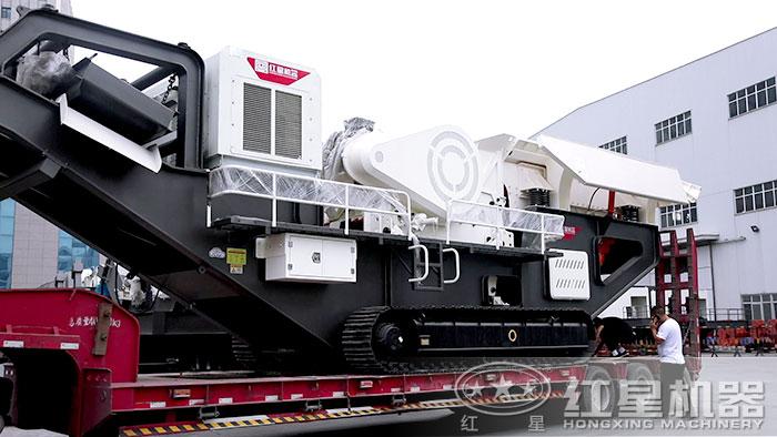 红星移动式加工机器发货
