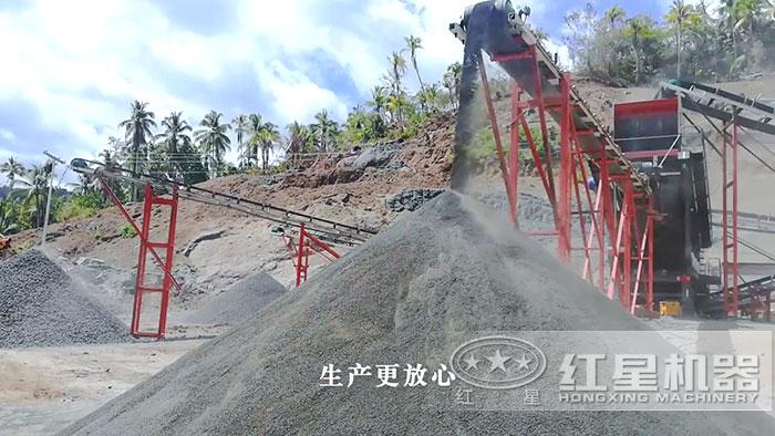 石英石制砂现场