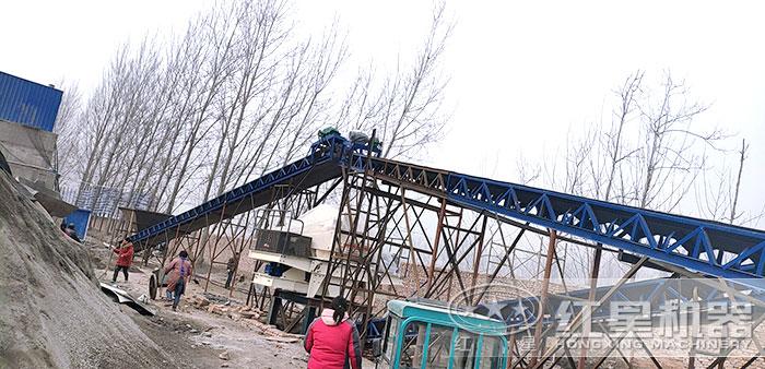 人工砂石生产线安装现场