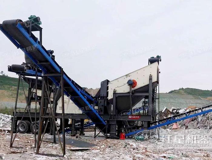 湖南一体式垃圾破碎机生产现场