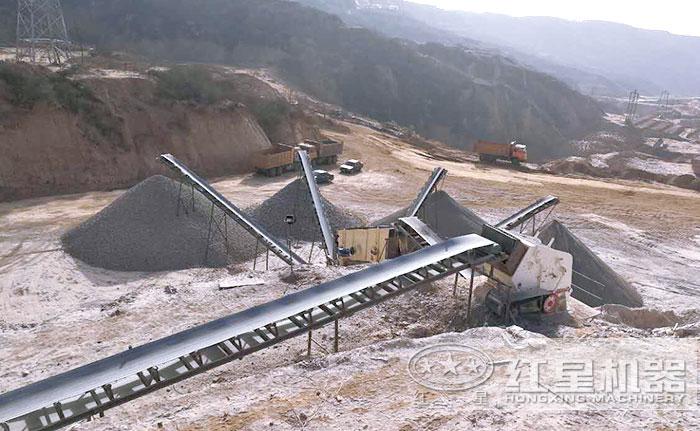 1315生产石子作业现场