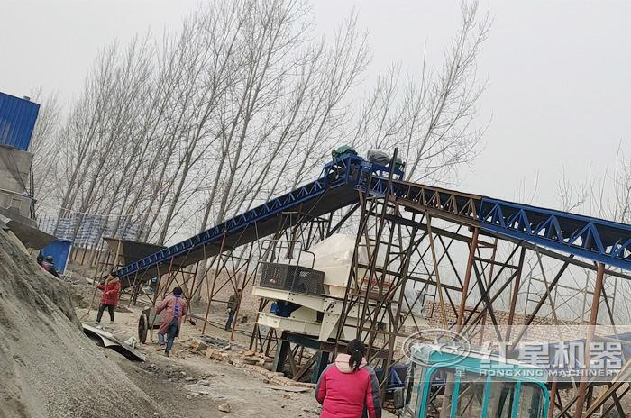 时产30吨造沙机湖南生产现场