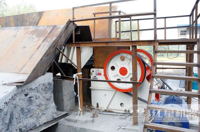 细鄂破青石100吨生产现场——芜湖