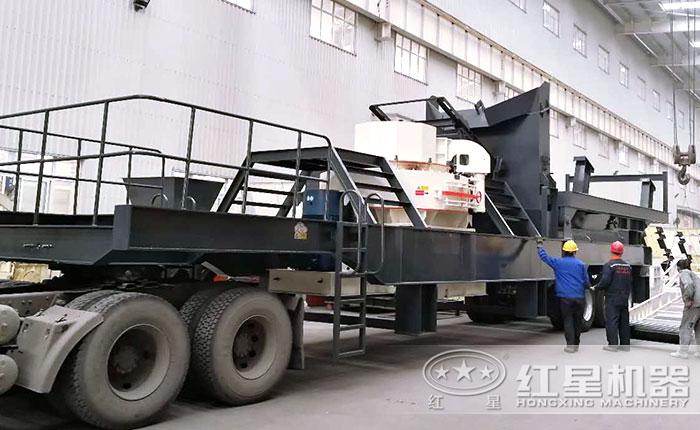 移动式制砂车---移动打砂机
