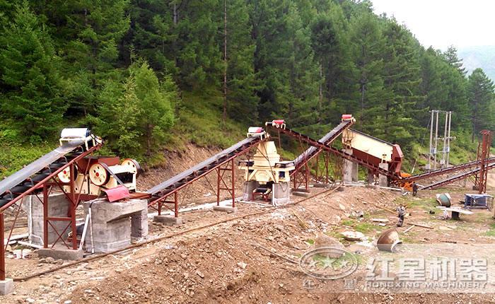 HX制砂机生产线现场