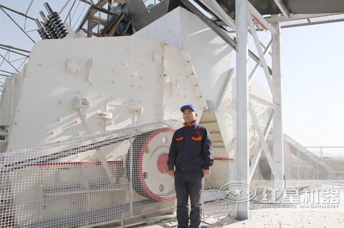 广西石灰石大型碎石生产现场