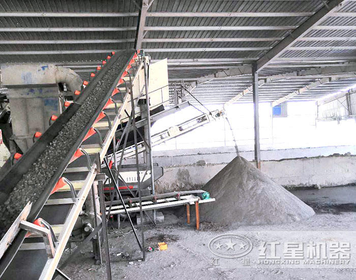移动制砂机作业现场