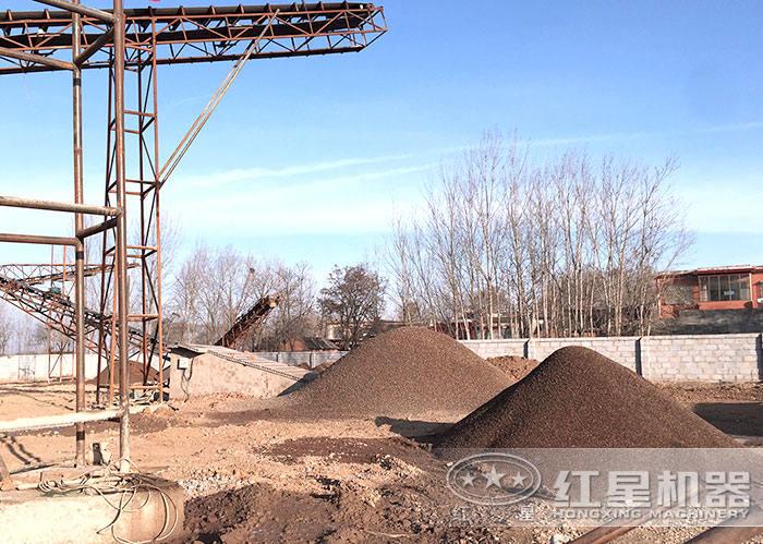 人工造沙设备加工出来的沙子