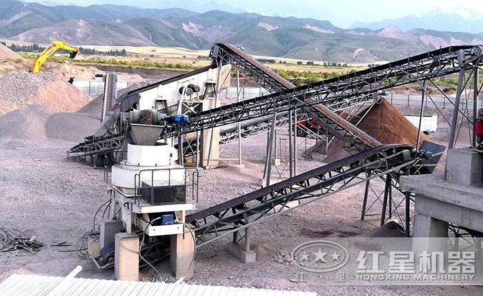 一百吨石子整形机生产现场——山西地区