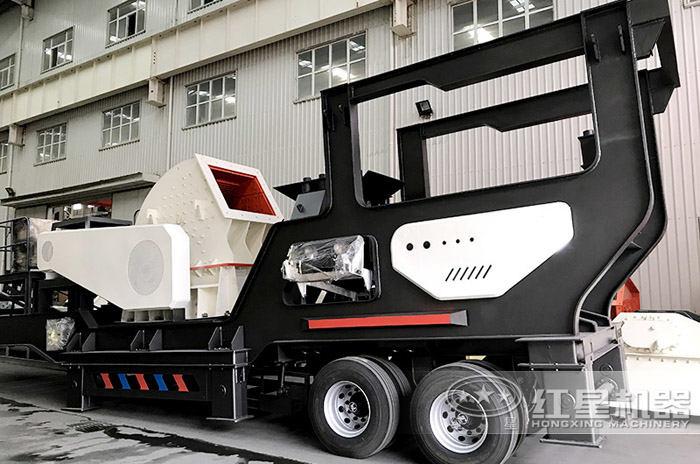 时产150吨移动锤破式制沙设备