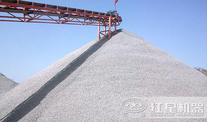 碎沙机生产机制砂现场