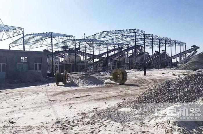 河北大型人工机制沙生产线现场